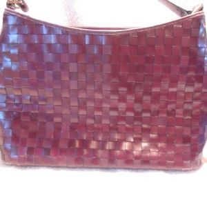 Etienne Aigner Vintage Woven Brown Leather bag